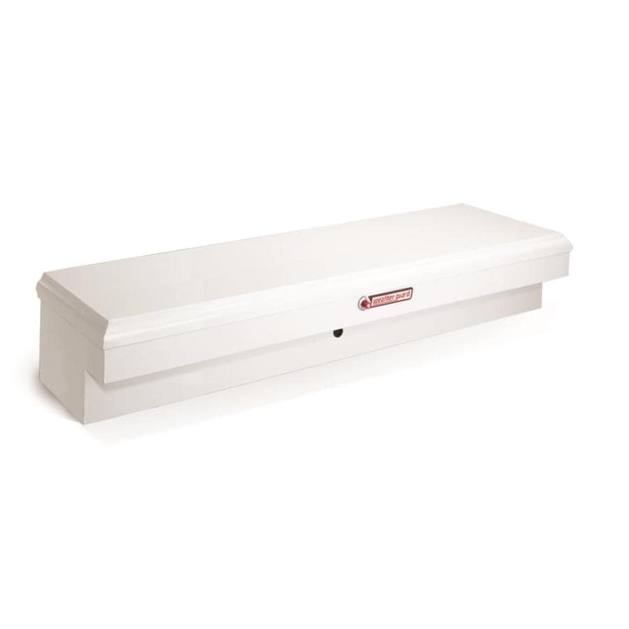 WEATHER GUARD 60.25-in x 18-in x 14-in White Steel Universal Truck Tool Box