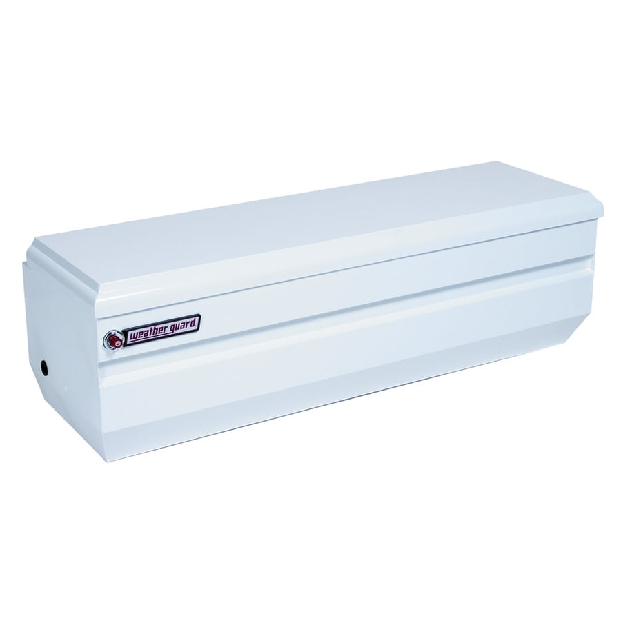 WEATHER GUARD 62-in x 20-in x 19.25-in White Steel Universal Truck Tool Box