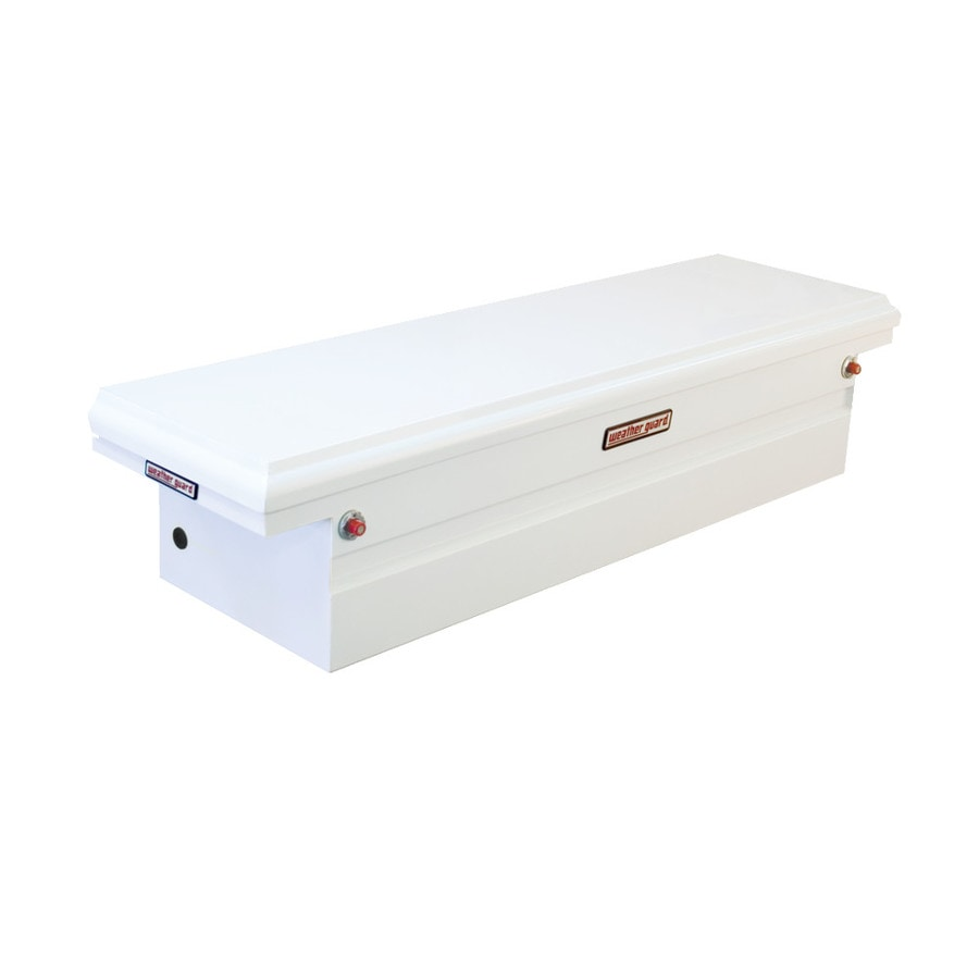 WEATHER GUARD 71.5-in x 20.25-in x 15.875-in White Steel Full-Size Truck Tool Box