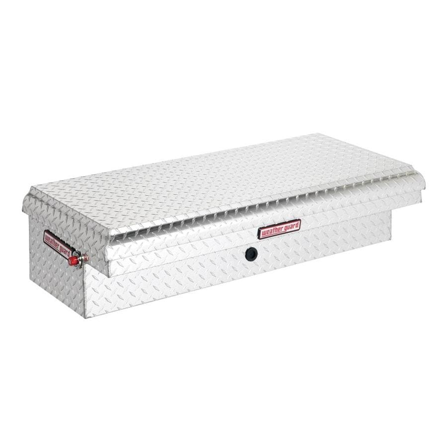 WEATHER GUARD 44.25-in x 19.25-in x 11.75-in Silver Aluminum Universal Truck Tool Box