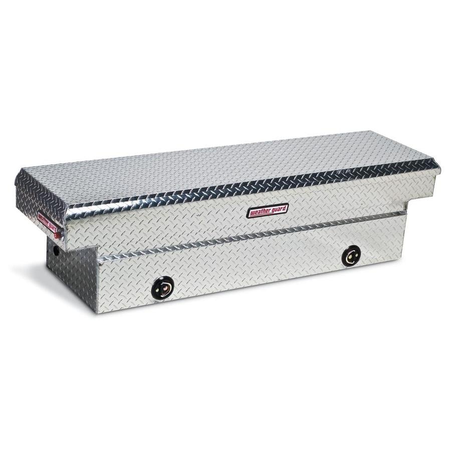 WEATHER GUARD 71.5-in x 20.25-in x 18.5-in Silver Aluminum Full-Size Truck Tool Box