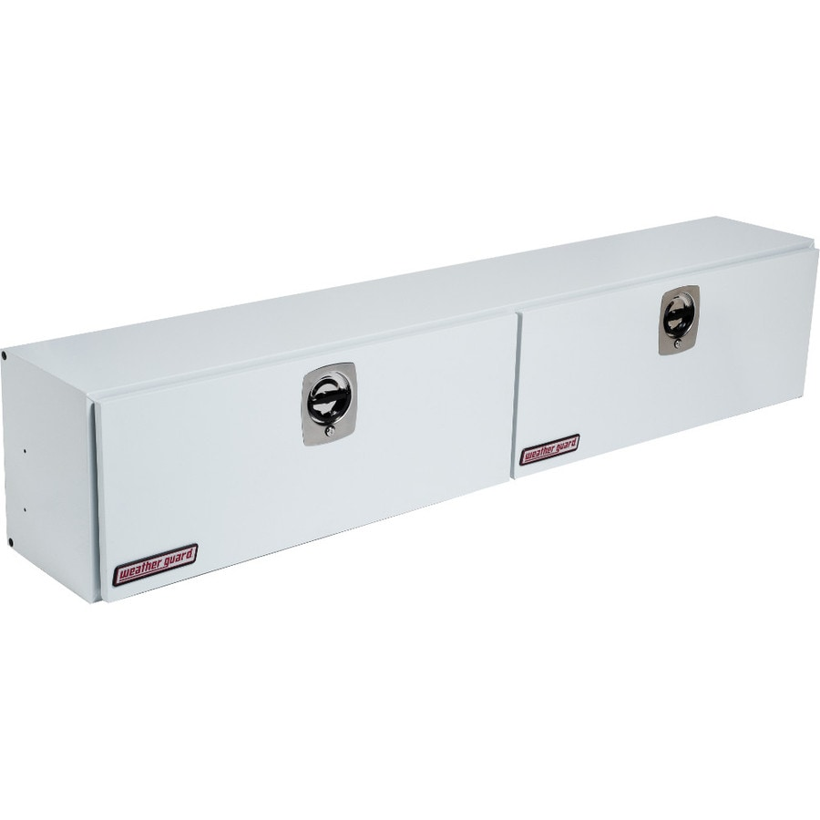 WEATHER GUARD 96.25-in x 16.25-in x 24-in White Steel Universal Truck Tool Box