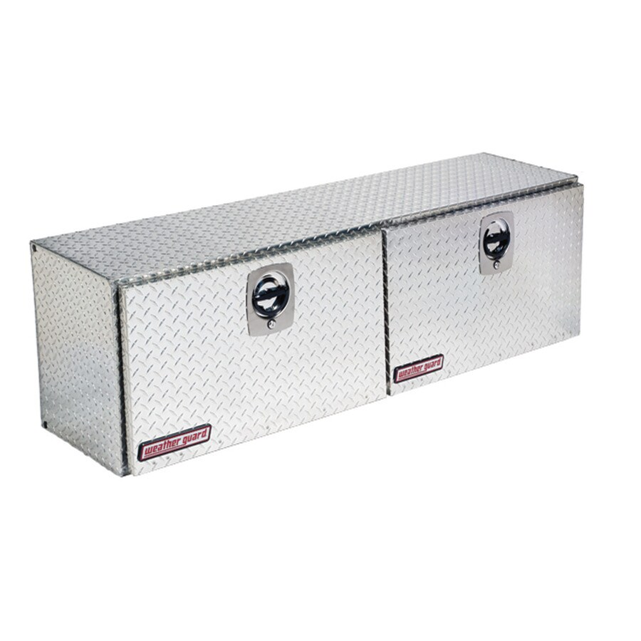 WEATHER GUARD 64.25-in x 16.25-in x 18-in Silver Aluminum Universal Truck Tool Box