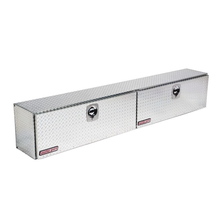 WEATHER GUARD 96.25-in x 13.25-in x 16-in Silver Aluminum Universal Truck Tool Box