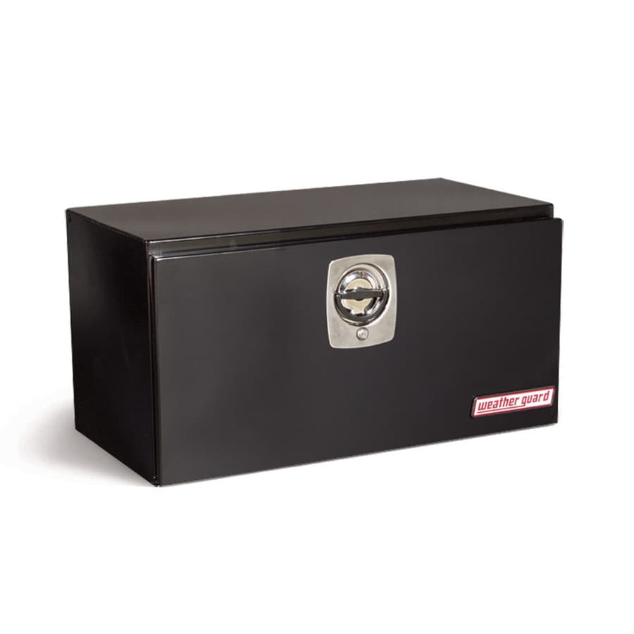 WEATHER GUARD 30.125-in x 18.125-in x 18.25-in Black Steel Universal Truck Tool Box