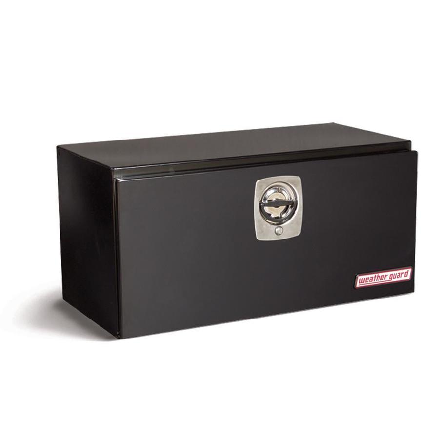 WEATHER GUARD 36.625-in x 18.25-in x 18.125-in Black Steel Universal Truck Tool Box