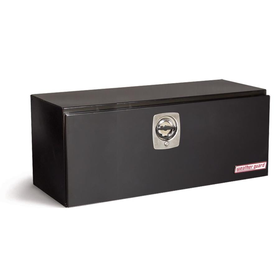 WEATHER GUARD 48.125-in x 18.25-in x 18.125-in Black Steel Universal Truck Tool Box