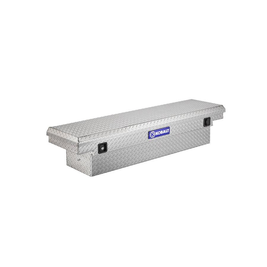 Kobalt 61.9-in x 13.9-in x 14-in Aluminum Compact Truck Tool Box