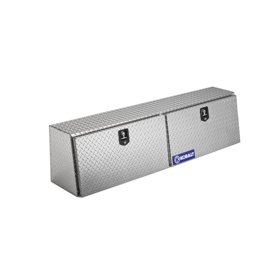 Kobalt 64.1-in x 13.5-in x 16.1-in Aluminum Full-Size Truck Tool Box