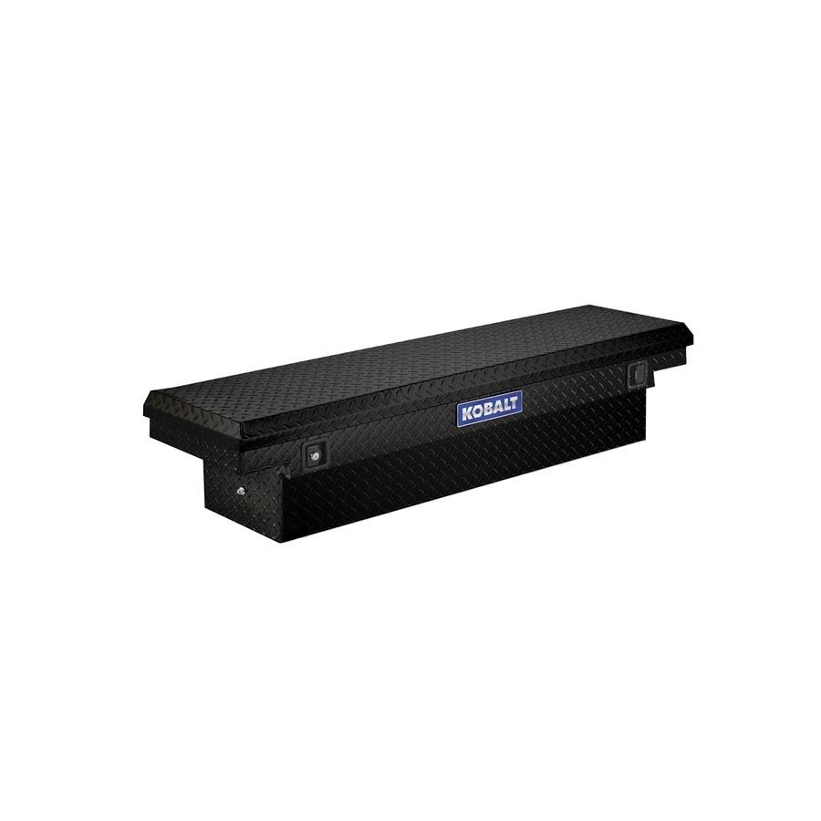 Kobalt 61.9-in x 13.9-in x 14-in Black Aluminum Compact Truck Tool Box