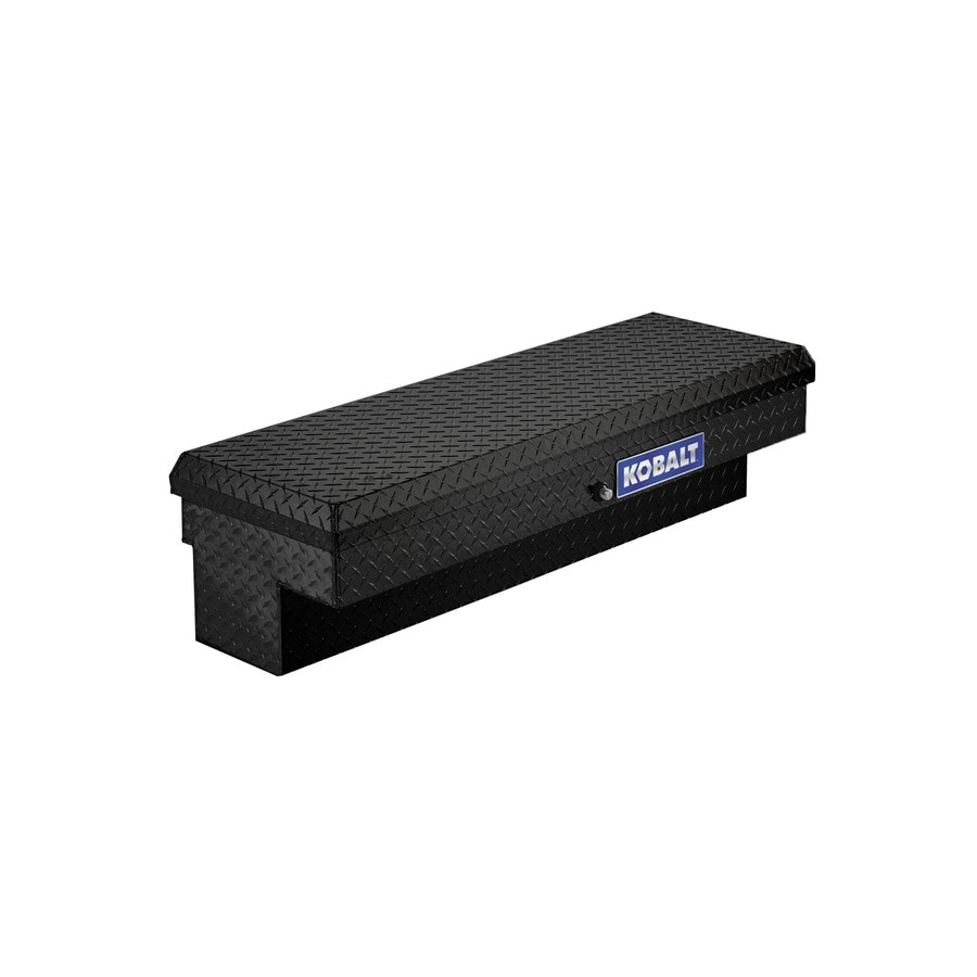 Kobalt 46.9-in x 15.8-in x 13-in Black Aluminum Universal Truck Tool Box