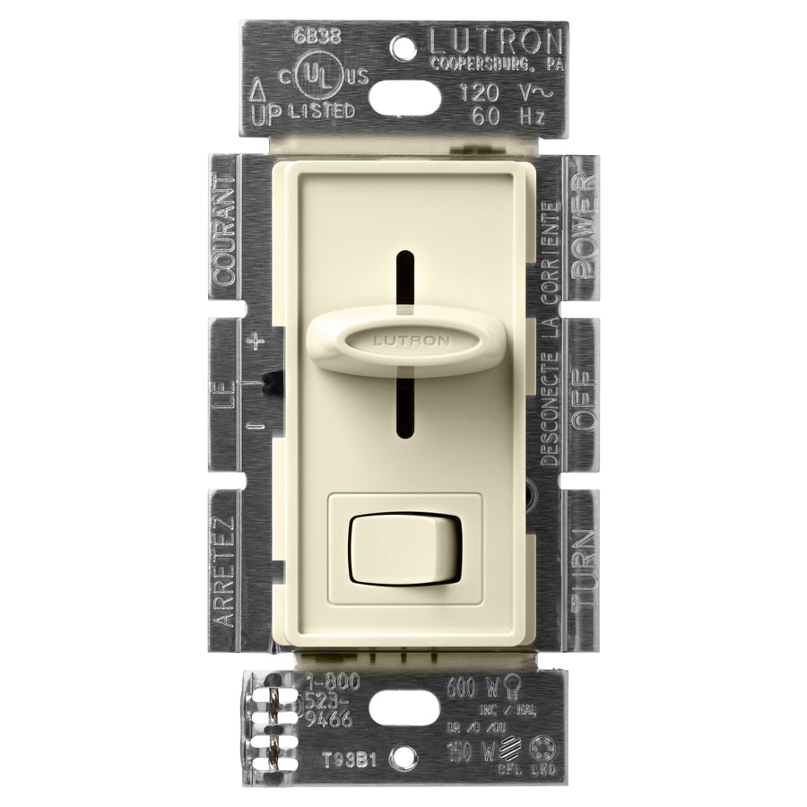 Lutron Skylark 3-Way Almond Slide Dimmer