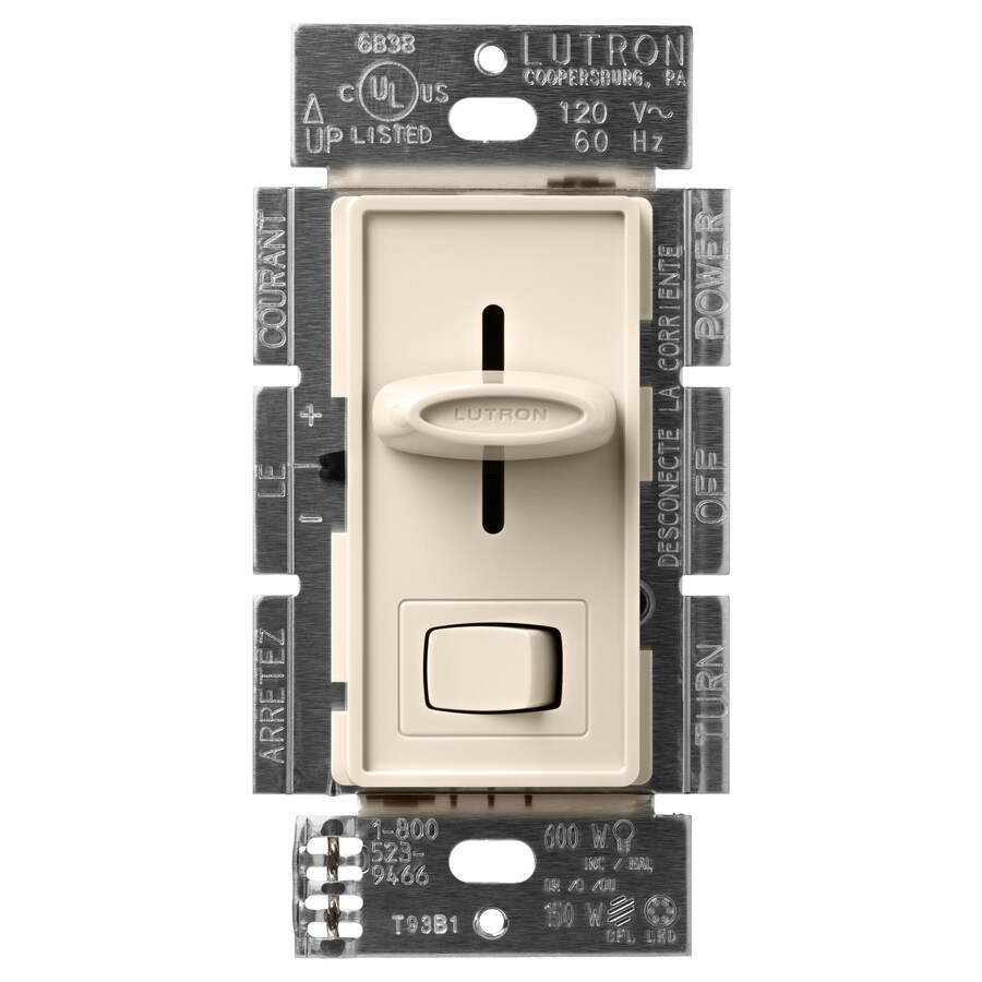 Lutron Skylark 150-Watt Single Pole 3-Way Light Almond Indoor Dimmer