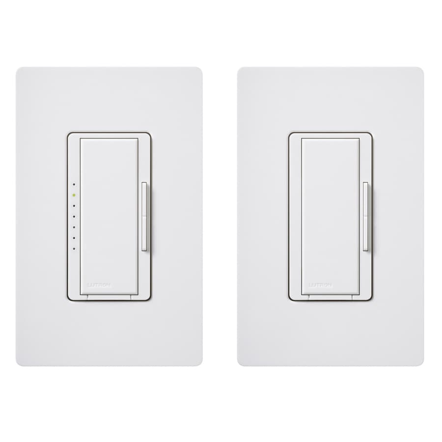 Lutron Maestro 150-Watt Double Pole 3-Way/4-Way White Indoor Tap Dimmer