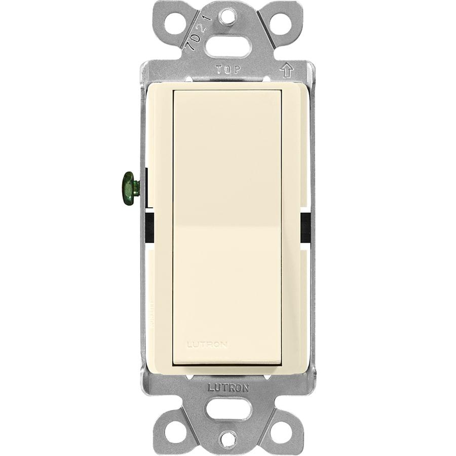 Lutron Claro 15-Amp Single Pole Almond Indoor Push Light Switch