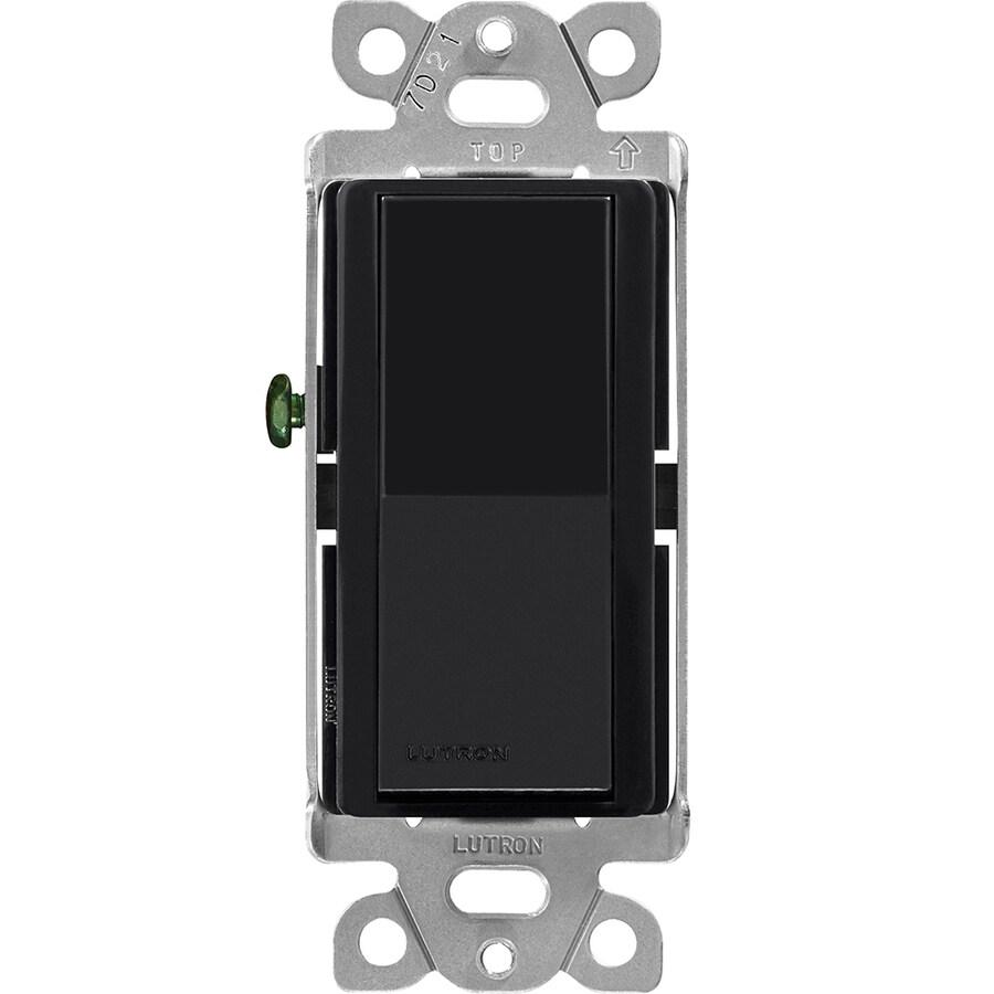 Lutron Claro-Switch Single Pole Black Light Switch