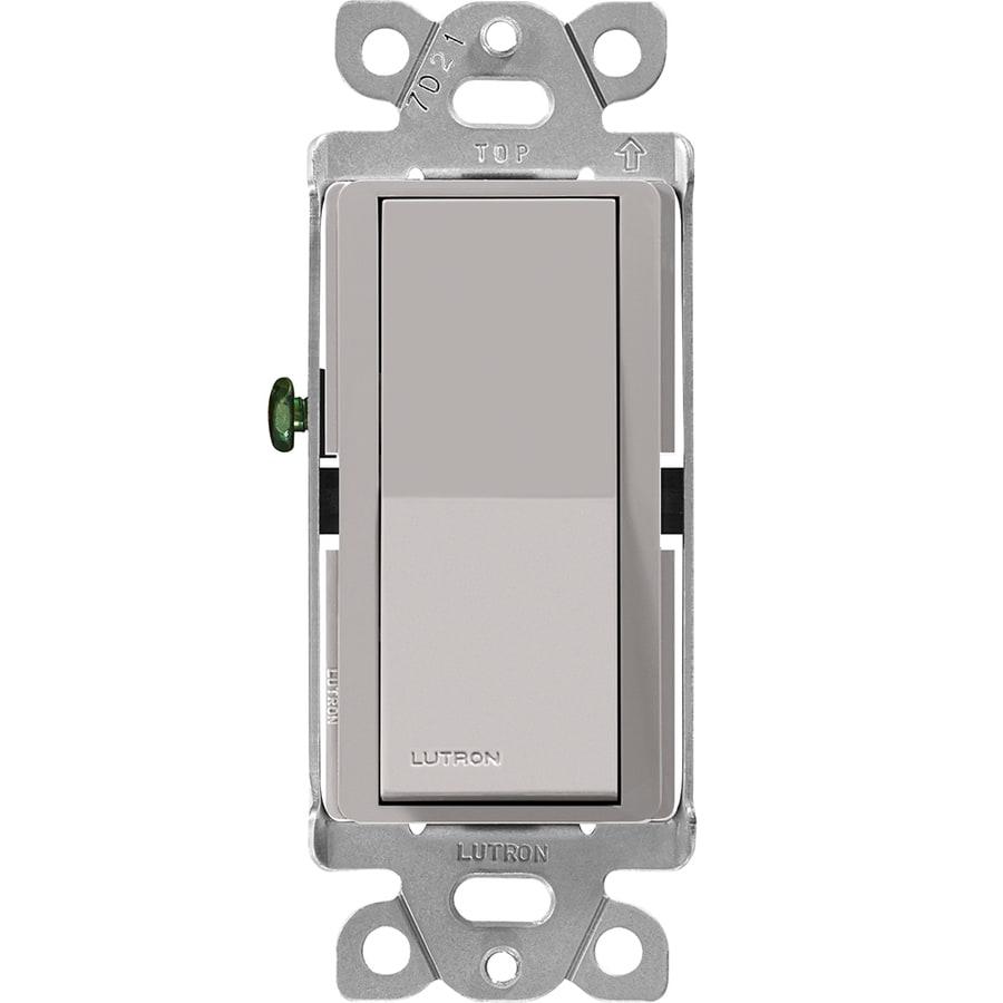 Lutron Claro Single Pole Gray Light Switch
