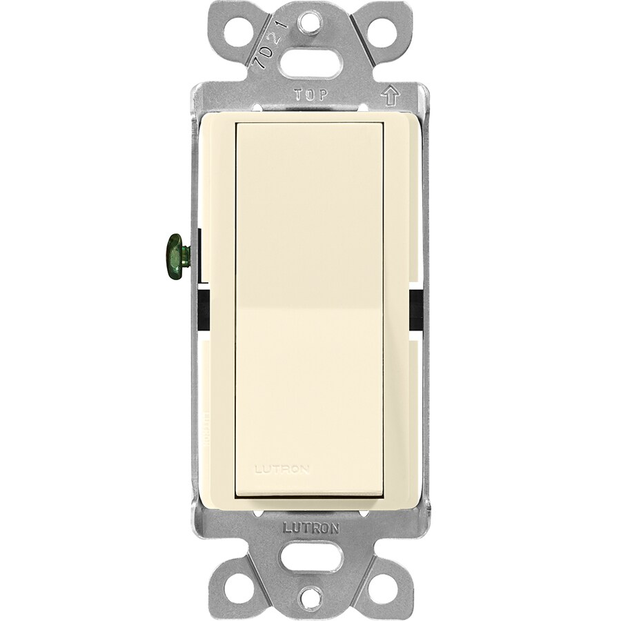 Lutron Claro Single Pole 3-Way Almond Light Switch