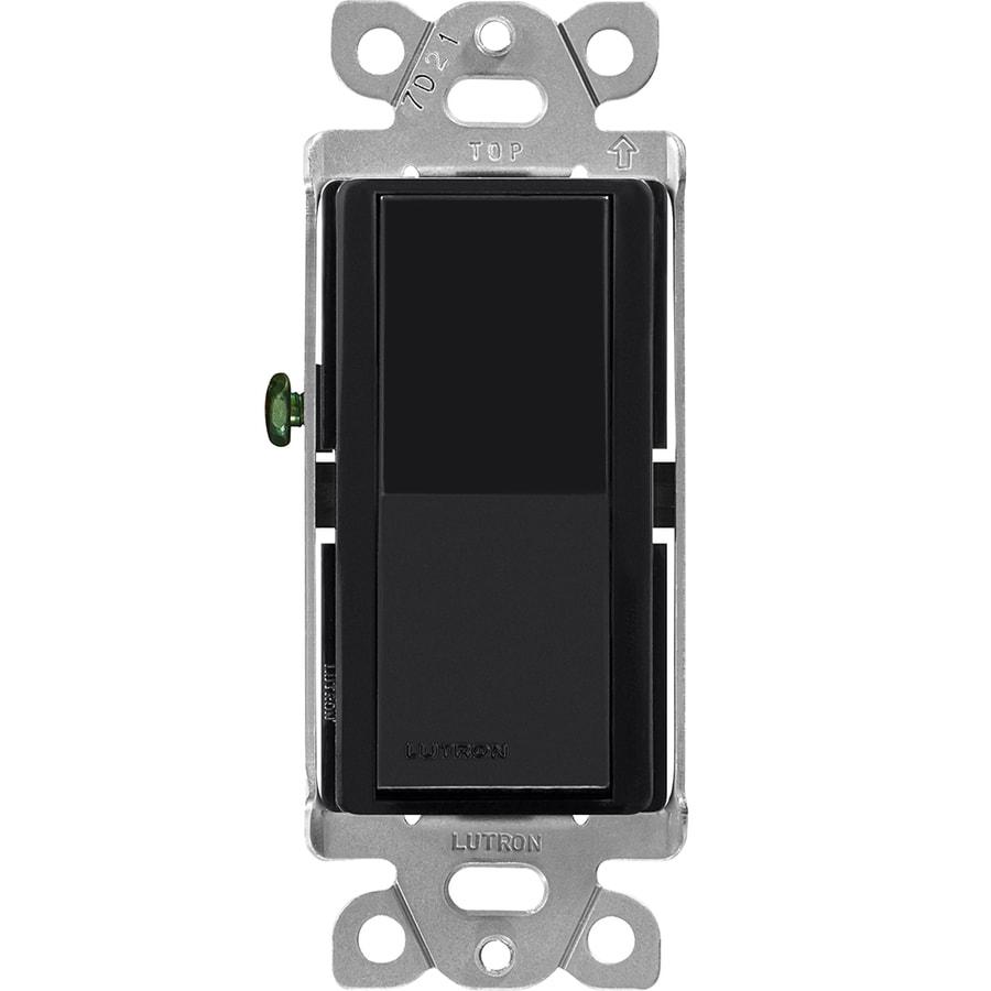 Lutron Claro Single Pole 3-Way Black Light Switch