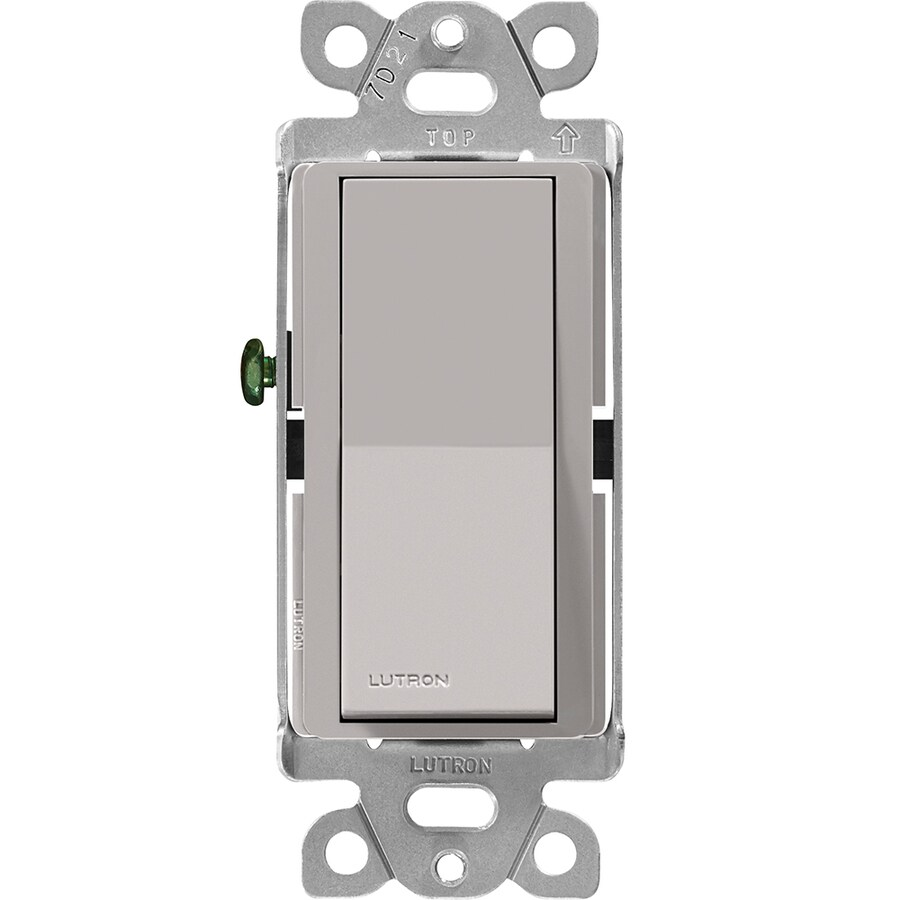 Shop Lutron Claro Single Pole 3-Way Gray Light Switch at Lowes.com