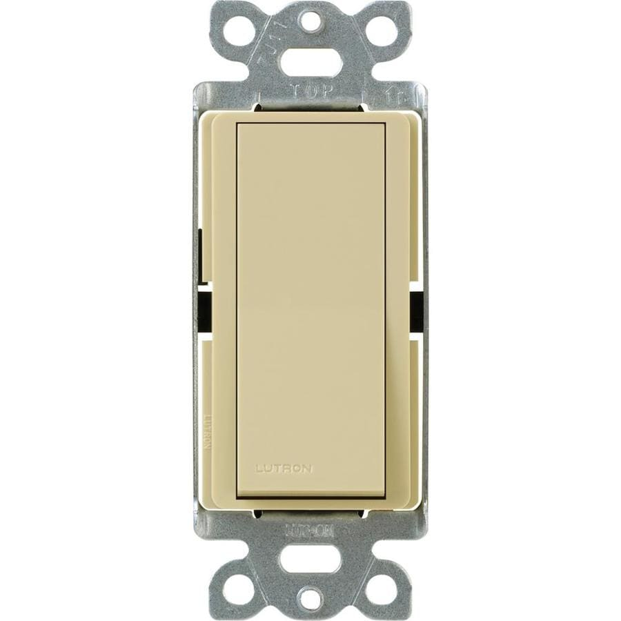 Lutron Claro Single Pole 3-Way Ivory Light Switch