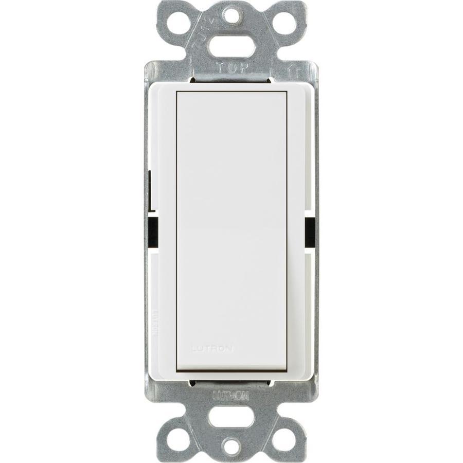 Lutron Claro Single Pole 3-Way White Light Switch