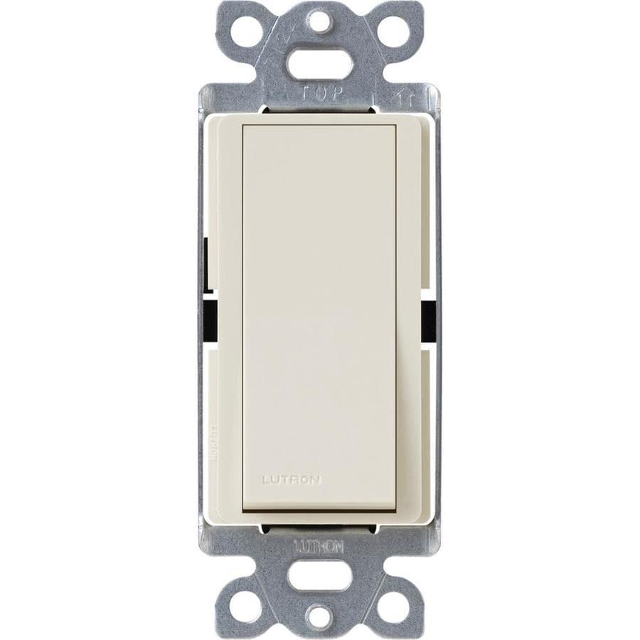 Lutron Claro 4-Way Light Almond Light Switch