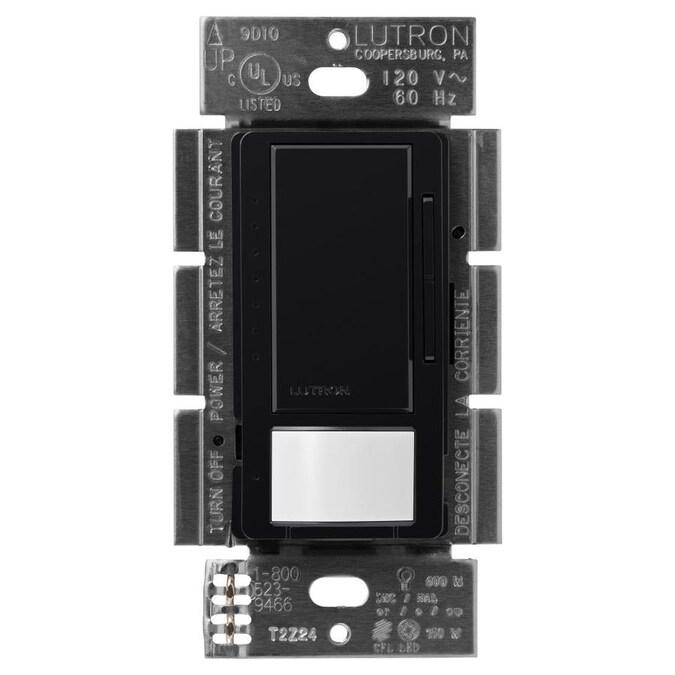 Lutron Maestro Multi-Location Black 1.25-Amp Occupancy