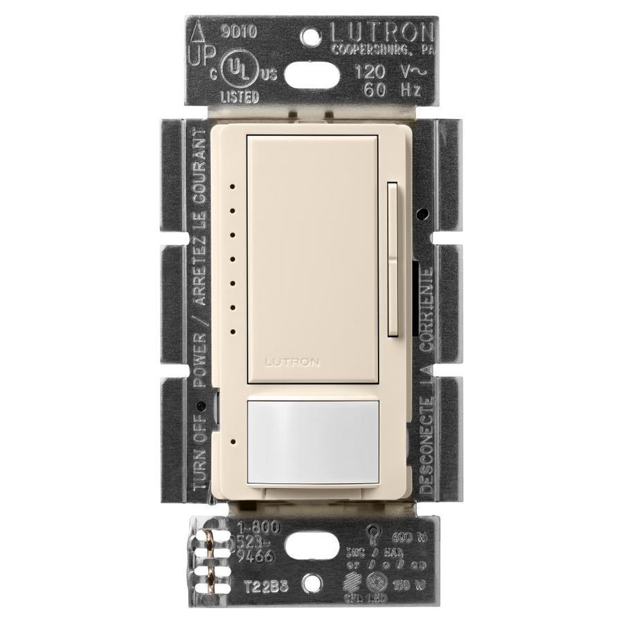 Shop Lutron Maestro 150 Watt Double Pole 3 Way 4 Light Almond Switch