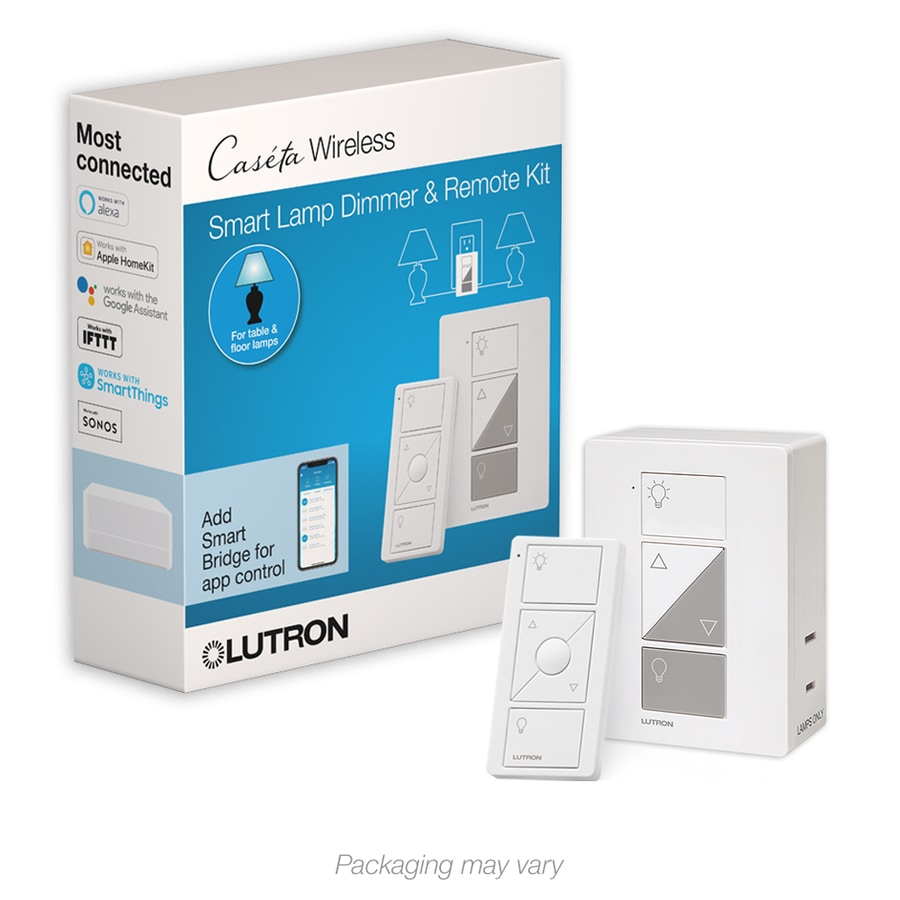 Lutron Caseta Wireless 100 Watt Double Pole 3 Way Wireless White Touch  Indoor Dimmer