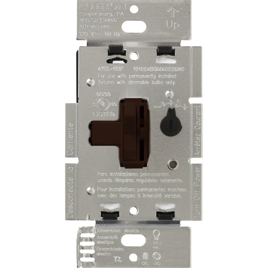Lutron Toggler 240-watt Single Pole 3-way Brown Toggle Indoor Dimmer