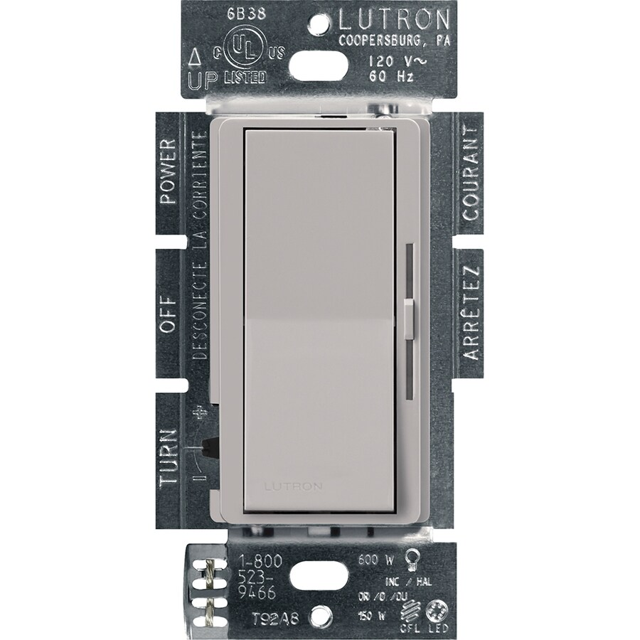 Lutron Diva 240-Watt Single Pole 3-Way Gray Indoor Dimmer