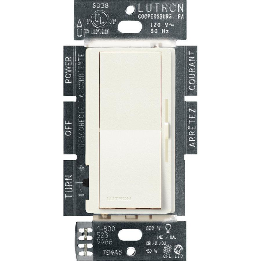 Lutron Diva 240-Watt Single Pole 3-Way Switch Biscuit Indoor Dimmer