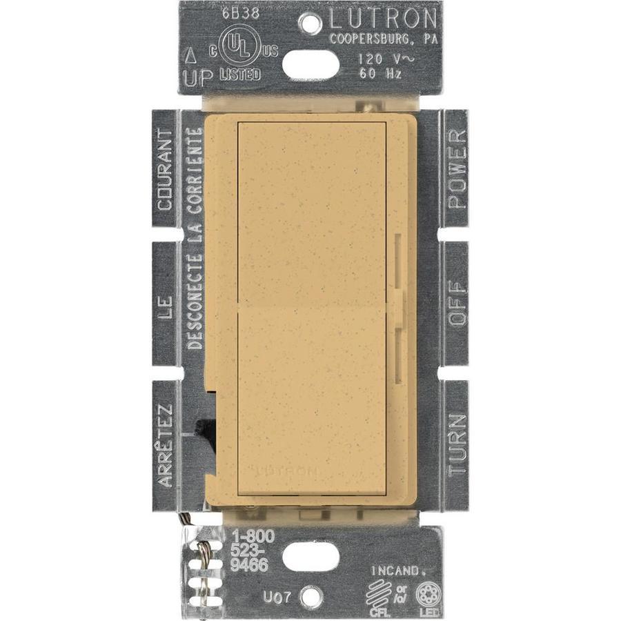 Lutron Diva 240-Watt Single Pole 3-Way Switch Goldstone Indoor Dimmer