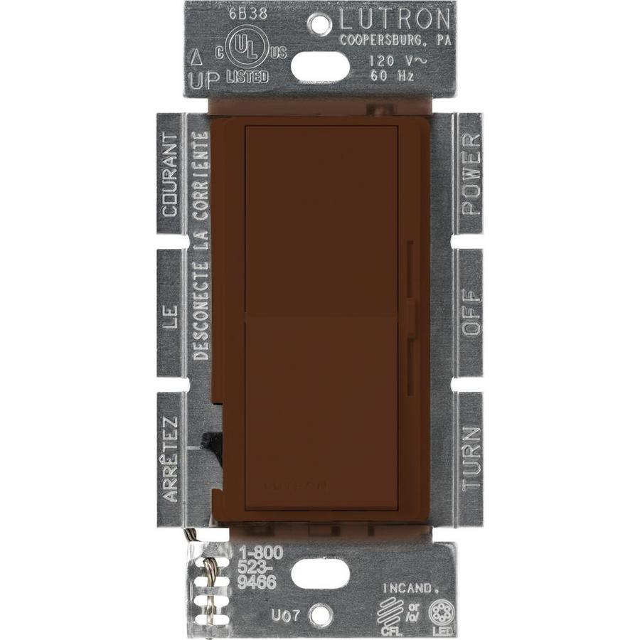Lutron Diva 240-Watt Single Pole 3-Way Switch Sienna Indoor Dimmer