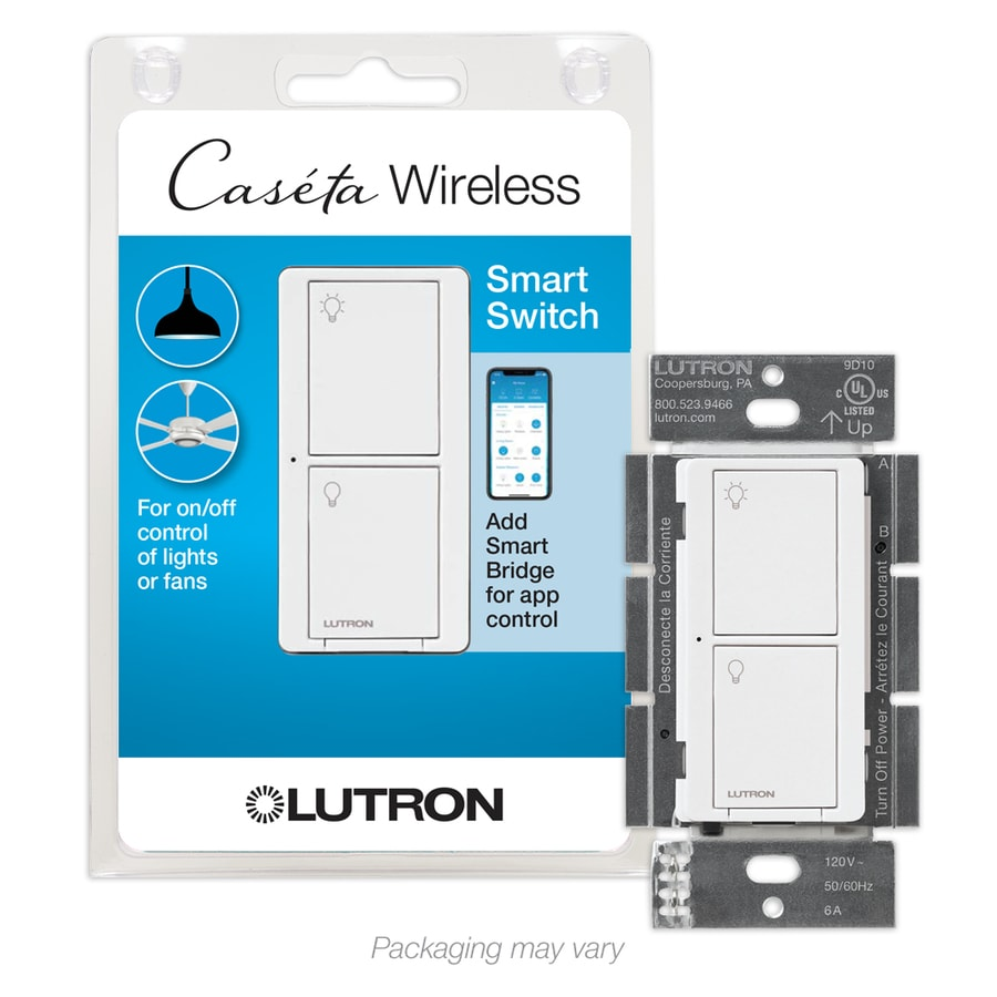 Lutron Caseta Wireless 6-Amp Wireless White Indoor Light Switch