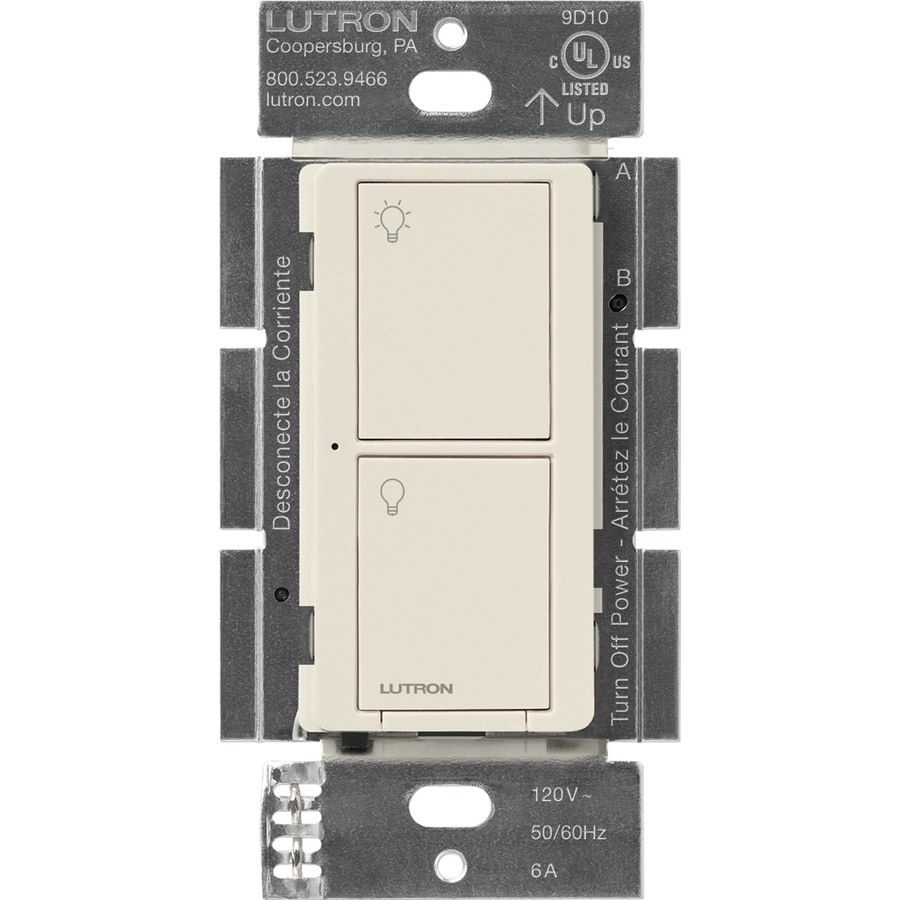 Lutron Caseta Wireless 6-amp Light Almond Indoor Light Switch
