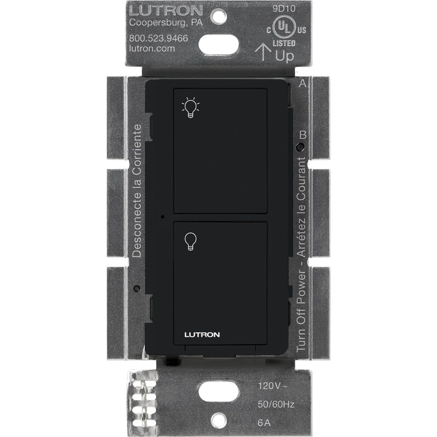Lutron Caseta Wireless 6-Amp Single Pole Wireless Black Indoor Touch Light Switch