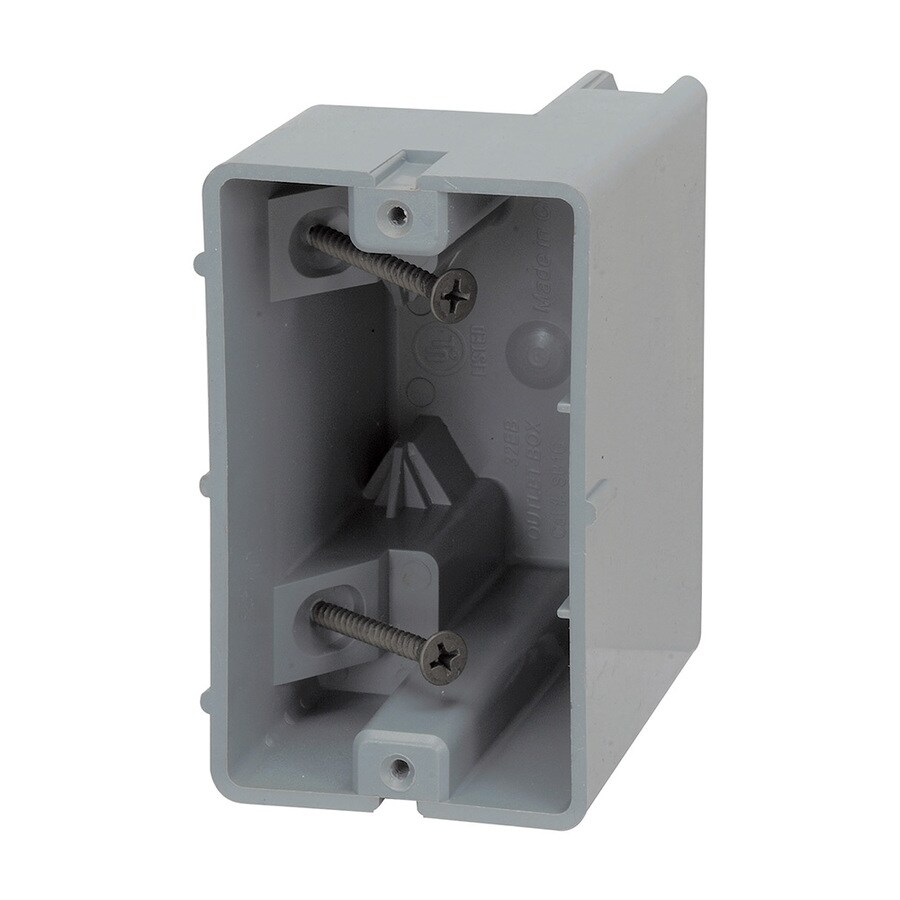 Electrical Wall Boxes : Shop madison electric products original gang gray pvc