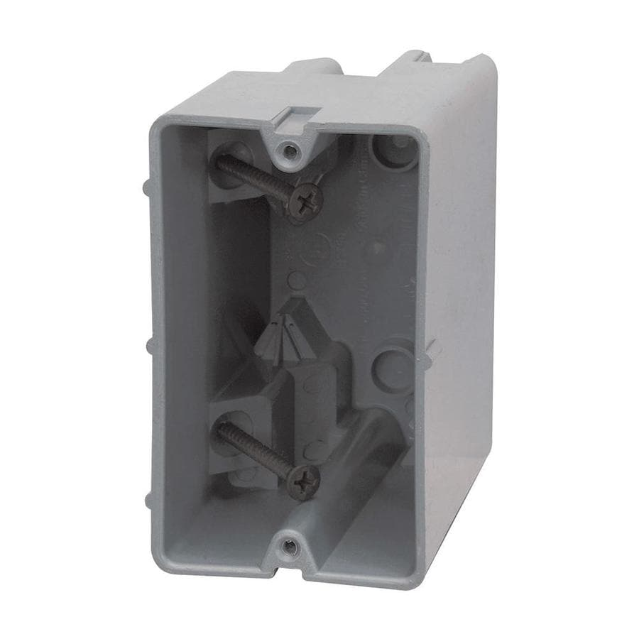 Shop madison electric products original gang gray pvc