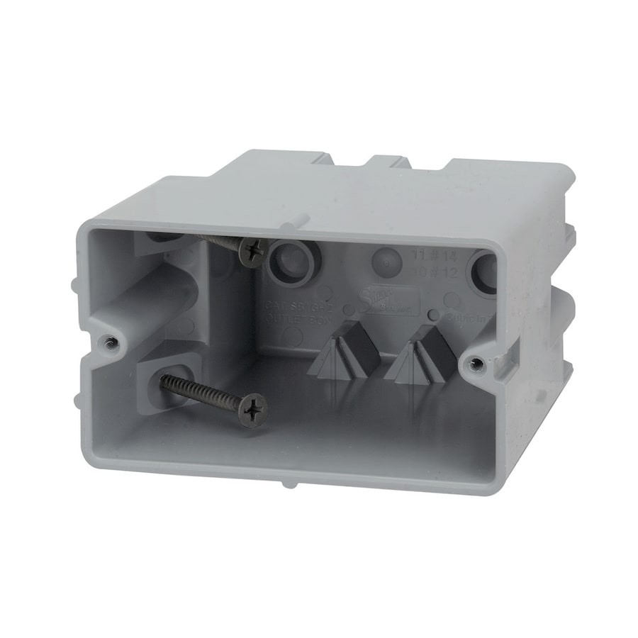 Madison Electric Products Original Horizontal 1-Gang Gray PVC Interior New Work/Old Work Standard Adjustable Wall Electrical Box