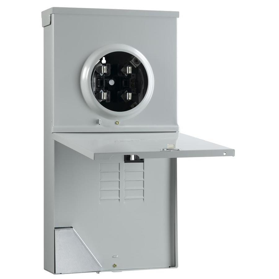 Outdoor Single Phase Meter Socket : Shop ge amp ringless single phase  meter