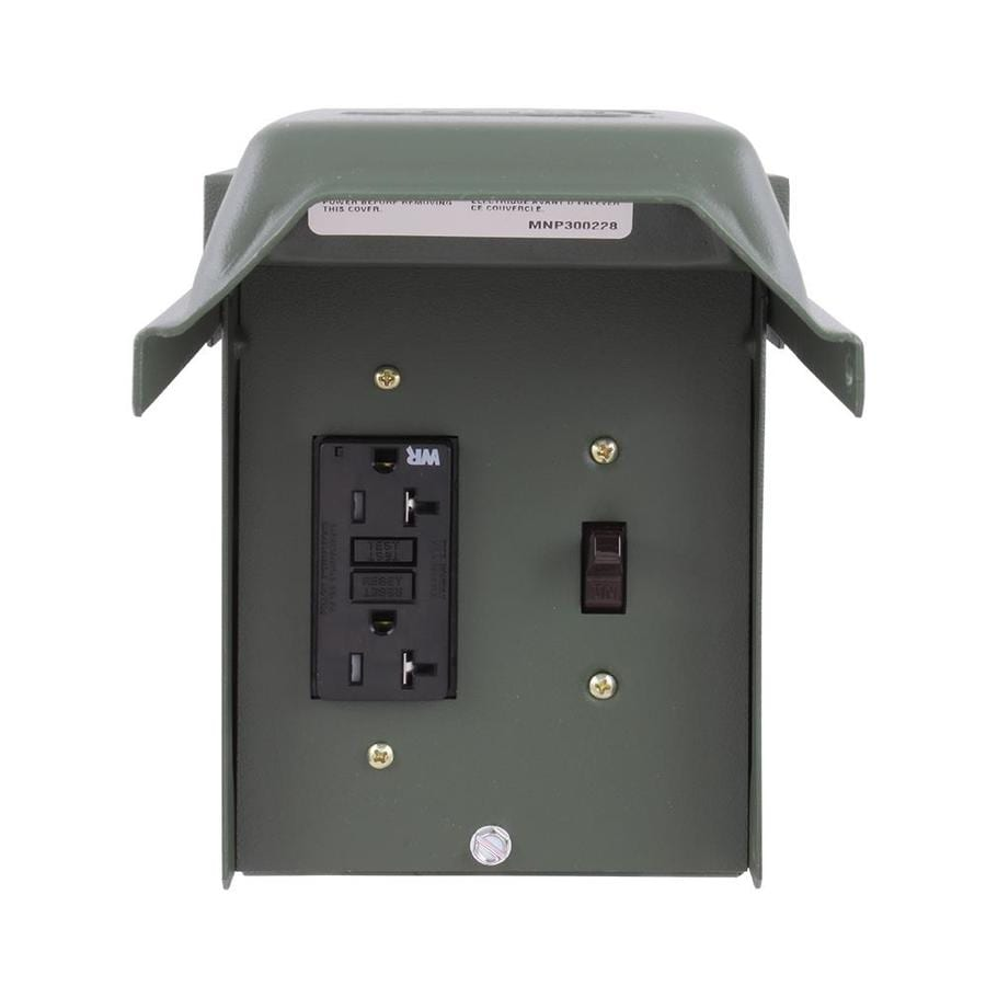 Outdoor Kitchen Electrical Outlet For Home Design Great: GE 20-Amp Non-Fusible Metallic Disconnect At Lowes.com