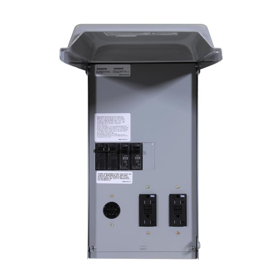 GE 100-Amp 5-Circuit Overhead or Underground Temporary Power Panel