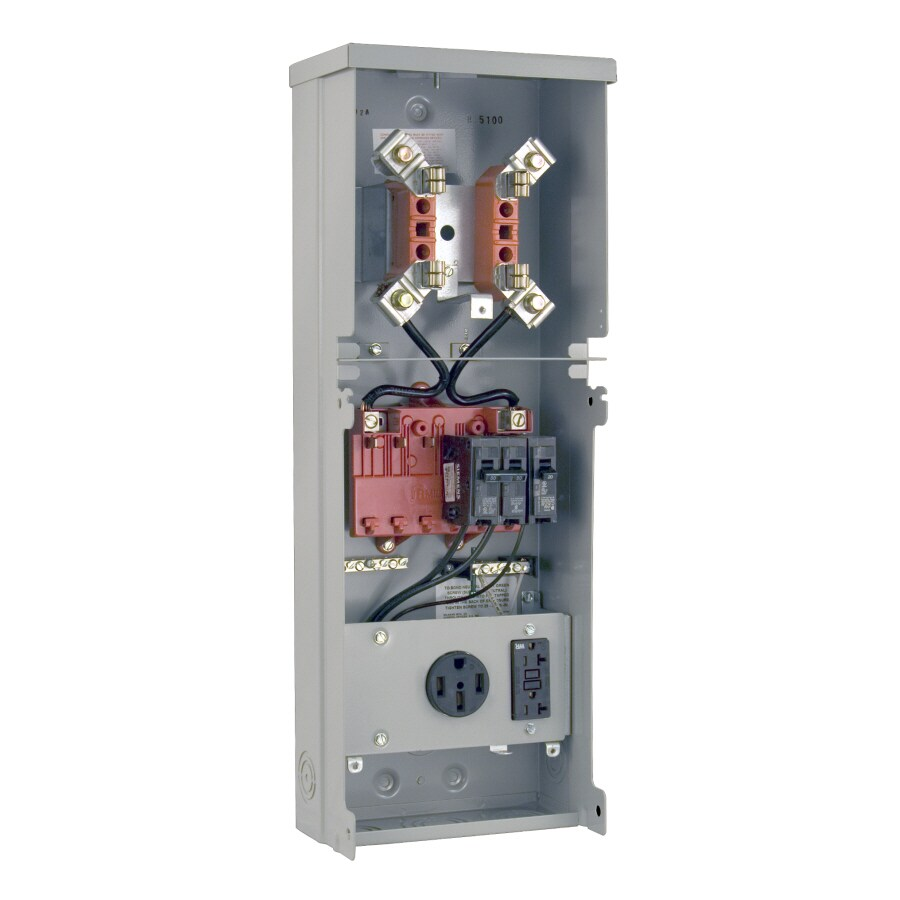 Milbank RV Power Outlet Gray Steel Weatherproof Exterior New Work/Old Work Standard Switch/Outlet Wall Electrical Box