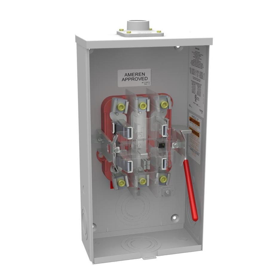 Milbank 125 Amp Ringless Single Phase (120/240) Meter Socket