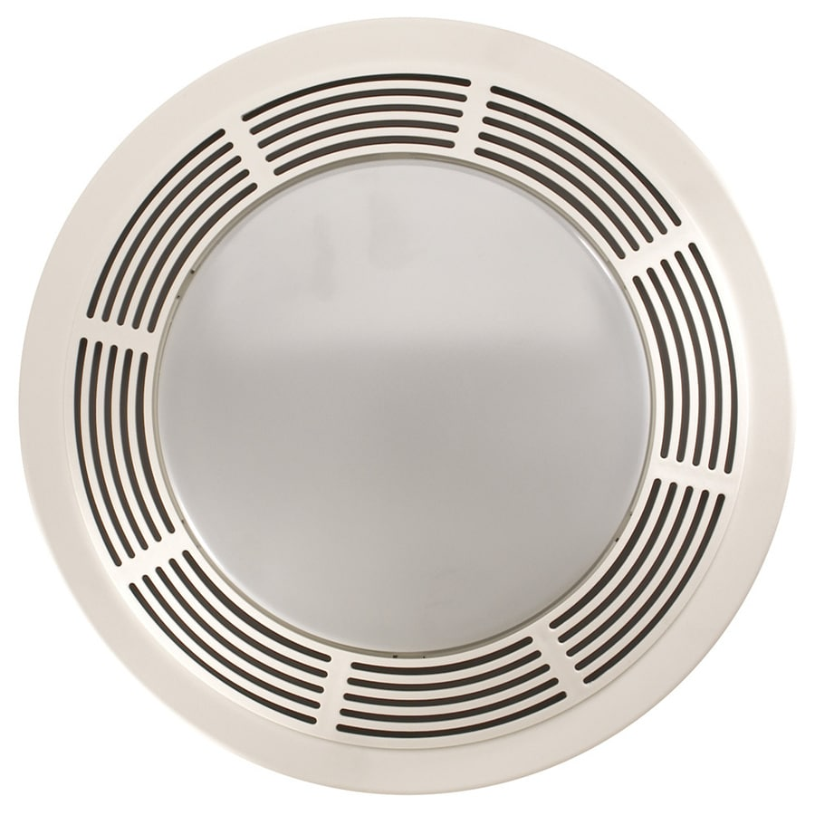 Shop Nutone 3 5 Sone 100 Cfm Polymeric White Bathroom Fan At