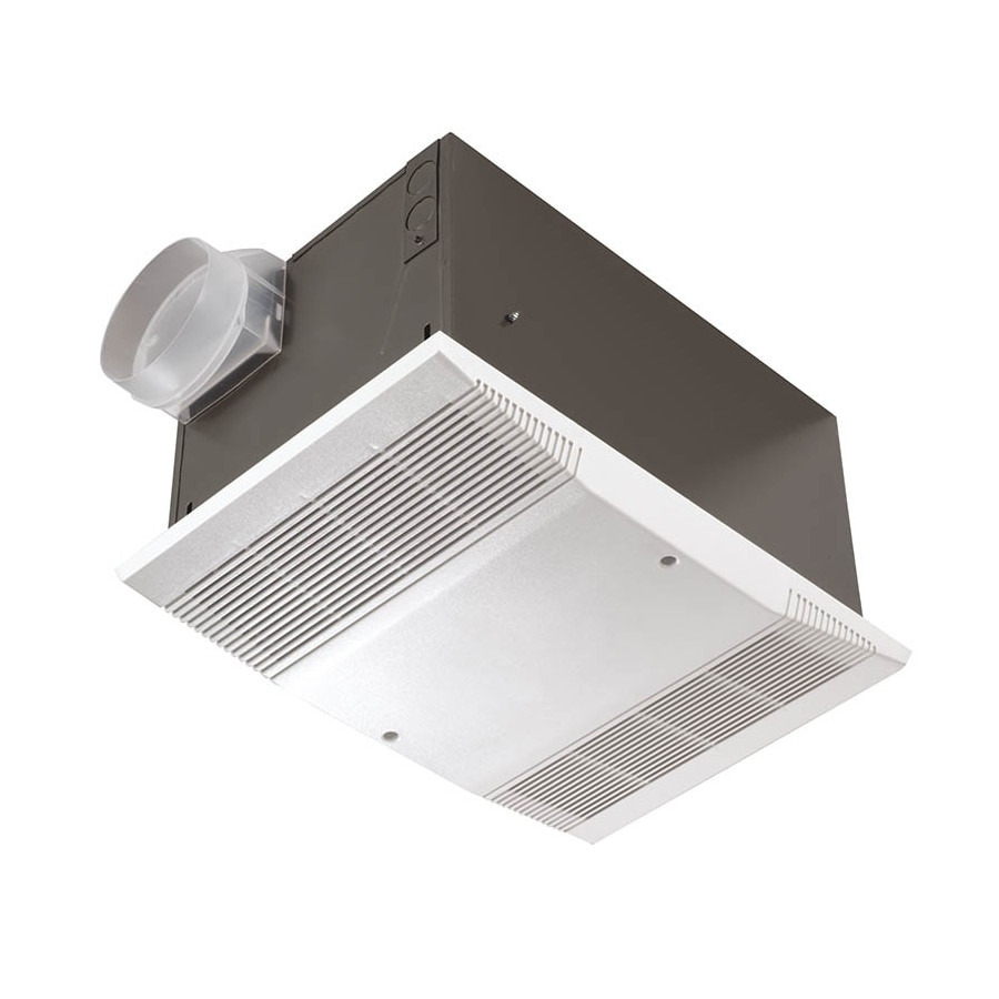 Shop nutone 4 sone 70 cfm polymeric white bathroom fan at for Bathroom exhaust fan lowes