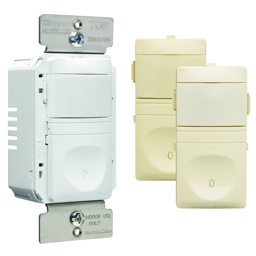 Pass & Seymour/Legrand 4-Pack Ivory, Light Almond, White Light Switches