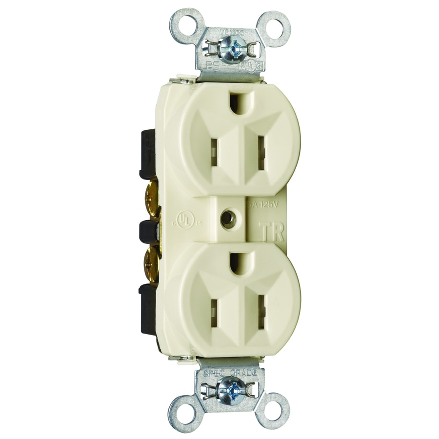 Pass & Seymour/Legrand 15-Amp 125-Volt Light Almond Indoor Duplex Wall Tamper Resistant Outlet